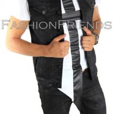 Vesta de blugi tip ZARA - vesta barbati - vesta slim fit - vesta fashion - 4998, Marime: M, Culoare: Din imagine