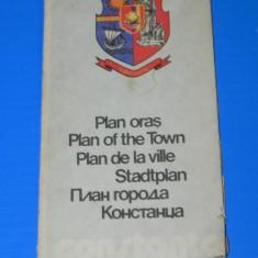 Harta Turistica - CONSTANTA PLANUL ORASULUI ONT 1979. harta