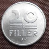 UNGARIA 20 FILLER 1981 KM573, Europa, An: 1942, Aluminiu