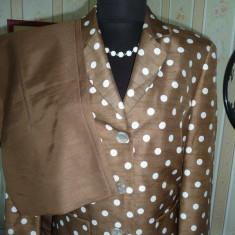 Costum dama, Costum cu pantaloni - COMPLEU SUPERB TAIOR CU PANTALONI NR 38 - 40