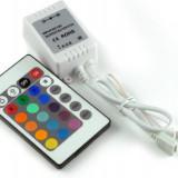 Led auto, Universal - Controler Banda Led RGB Cu Telecomanda 24 Butoane pt banda - COD 10014 -