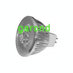 Spot cu 3 LED-uri, 12V/3W c.c., dulie MR16 - lumina alba/6567
