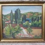 Tablou, Portrete, Ulei, Impresionism - Castel in peisaj