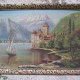 Castel pe Dunare, tablou pictat in ulei pe panza de Molnar, pictor maghiar, Peisaje, Cerneala, Altul