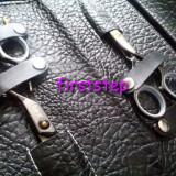 Set kit frizerie coafor foarfece foarfeca profesionala tuns + filat hand made