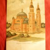 Carte Postala, Necirculata, Printata - Ilustrata Catedrala Ortodoxa Romana Sibiu cca.1914, color