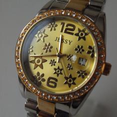 Ceas de Dama Geneva - JESSY ceasuri AURIU +ARGINTIU dama + CUTIE CADOU ceas gen guess CE130