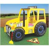 Patut In Forma De Tractor - Plastiko - Galben