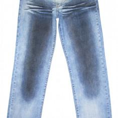 (Made in Italy) JUST CAVALLI - (MARIME: 32) - Talie = 81 CM, Lungime = 116 CM - Blugi barbati ROBERTO CAVALLI CLASS, Culoare: Albastru, Prespalat, Drepti, Normal