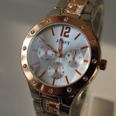 Ceas de Dama Geneva - JESSY ceasuri AURIU +ARGINTIU dama + CUTIE CADOU ceas gen guess CE133