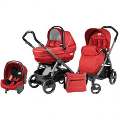 Carucior 3 in 1 Book Plus 51 Black Completo SL Sunset - Carucior copii 2 in 1 Peg Perego