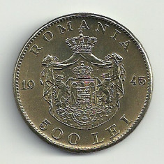 ROMANIA MIHAI I 500 LEI 1945 [2] XF+++ a UNC, livrare in cartonas - Moneda Romania, Cupru-Nichel