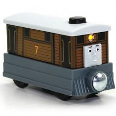 Trenulet de jucarie Fisher Price, 2-4 ani, Lemn, Baiat - Locomotiva Toby, colectia Thomas si prietenii sai, Fisher Price