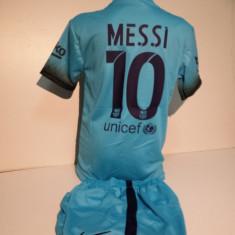 Set echipament fotbal - Echipamente sportive copii FC.Barcelona Messi compleu fotbal marimea 176