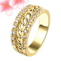 Inel placate cu aur - Inel placat cu aur de 24k