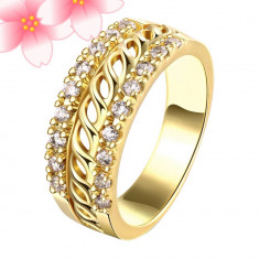 Inel placat cu aur de 24k - Inel placate cu aur
