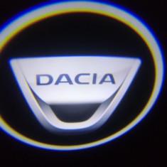 Logo Emblema Auto - Set 2 Logo Dacia Wireless fără găurire portiere, Logan lodgy proiectoare