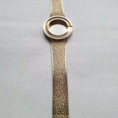 Ceas Barbatesc omega, Elegant, Placat cu aur, Placat cu aur, 1970 - 1999 - Omega Watch 18k 0.750 1976 carcasa cu bratara placata cu aur pentru ceas Omega