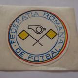 Sticker arbitru Federatia Romana de Fotbal anii '80