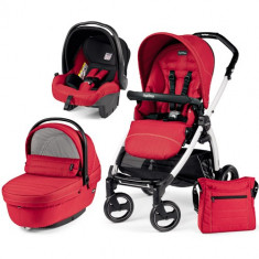 Carucior 3 in 1 Book Plus S Black White Sportivo Red - Carucior copii 2 in 1 Peg Perego