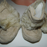 Botosei pentru nou-nascuti, botosei bebelus, ghetute bebelusi, 0-6 luni, cu blanita - Botosi copii, 18, Crem
