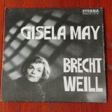 Disc vinil ( vinyl , pick-up ) - Gisela May - Brecht weill  !!