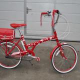 """Bicicleta de oras Raleigh, 15 inch, 20 inch, Numar viteze: 3, Otel, Rosu - """"Raleigh Red or Dead City Bike"""" damă. O cochetă bicicletă britanică."""