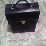 Geanta din piele veritabila - Autentic Vintage- Ideala Moto/Oldtimer - Noua-Nefolosita- Conditie ireprosabila
