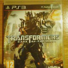 JOC PS3 TRANSFORMERS DARK OF THE MOON ORIGINAL / STOC REAL in Bucuresti / by DARK WADDER - Jocuri PS3 Activision, Actiune, 12+, Single player