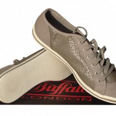 Pantofi sport dama Buffalo - Adidasi dama Buffalo, Marime: 37, Culoare: Gri, Textil