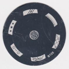 Unghii cu modele - Matrita metalica pt modele unghii, pt stampila, disc matrita metal, model B120