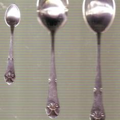 Lingurite din argint - 36 grame deosebite, Set lingurile