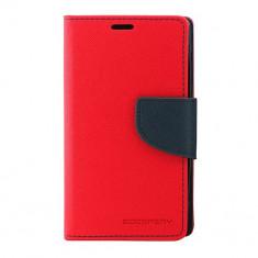 Husa Atlas, Rosu, Textil, Toc - Toc My-Fancy Nokia 520/525 Lumia Rosu/Albastru