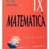 Matematica. Manual pentru clasa a 9-a