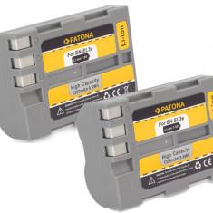 PATONA | 2 Acumulatori pt NIKON D100 EN-EL3e EN-EL3 EN EL3e EL3 ENEL3e ENEL3 - Baterie Aparat foto