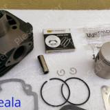 Kit Cilindru / Set Motor + Piston + Segmenti Scuter Gilera Typhoon / TPH / Storm / Stalker / ICE / Easy Moving ( 80cc - racire aer - W Standard )