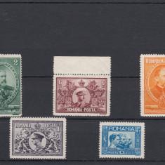 Timbre Romania - ROMANIA - 1931, SEMICENTENARUL REGATULUI, ORIGINAL GUM, SEE SCANS - LOT 3 RO