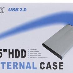 Rack extern 2, 5 inch SATA, carcasa externa din metal(aluminiu), usb 2.0 - Rack HDD