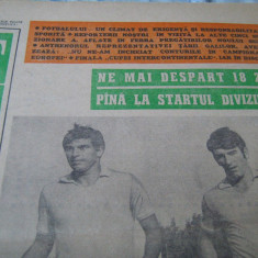 Revista/Ziar - Revista FOTBAL (nr.271 / 4 august 1973), 5 echipe la start Jiul, Petrolul, Dinamo, Farul, Bacau