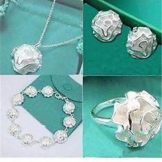 Set superb bijuterii argint 925; inel marime 8, vezi dimensiuni exacte - Set bijuterii argint