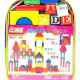 cuburi lemn colorate Alfabet