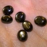 lot  6 safire naturale stelate! ideale pentru carcei; pandantiv; inel;  set ! sau bratara!