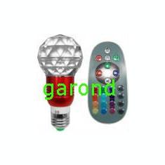 Bec/neon - Bec cu led RGB, 3W, dulie E27, 220V - cu telecomanda/6660
