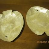 Arta Ceramica - Platou peste din scoica ( ? ), platouri sidefate pentru icre sau alte produse marine / 2 bucati