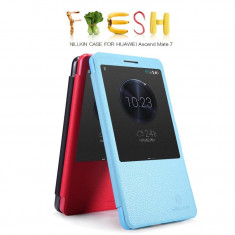 Husa HUAWEI Ascend Mate 7 S-VIEW Fresh by Nillkin Black Activa - Husa Telefon Huawei, Negru, Piele Ecologica, Cu clapeta, Toc
