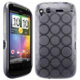 Husa silicon transparenta HTC Desire S + folie protectie ecran + expediere gratuita