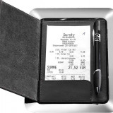 Scule/Unelte - Tavita din inox cu prezentare bon din piele si sistem magnetic