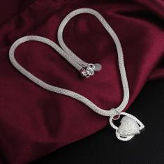 Colier superb argint 925 + cutiuta cadou; 48 cm colier + 2.2 cm pandantiv - Colier argint