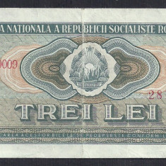 Bancnote Romanesti, An: 1966 - ROMANIA 3 LEI 1966 [4]