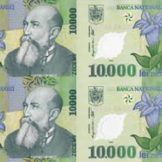 Bancnote Romanesti, An: 2000 - ROMANIA 4 X 10.000 lei 2000 COALA NETĂIATĂ + certificat UNC!!!